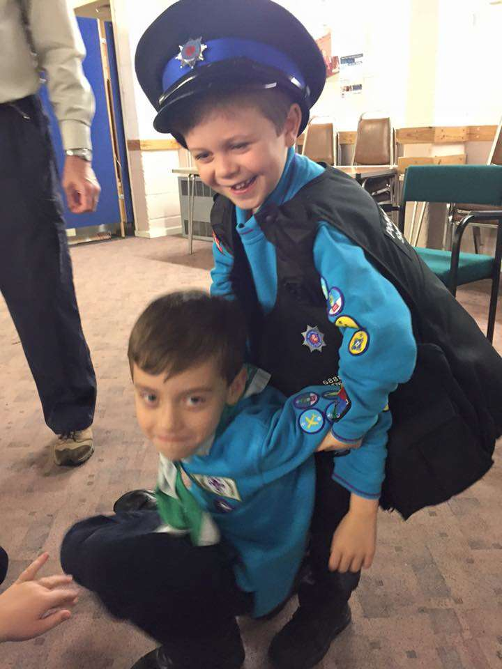 Beavers and Cubs meet emergency services